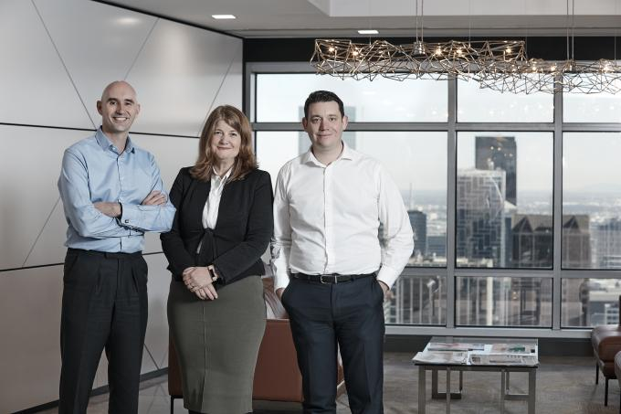 Photo of our staff (left to right) Richard Large, Chief Technology Officer, Sue Brake, Deputy Chief Investment Officer, Portfolio Strategy and Daniel Doyle, Head of Investment Data