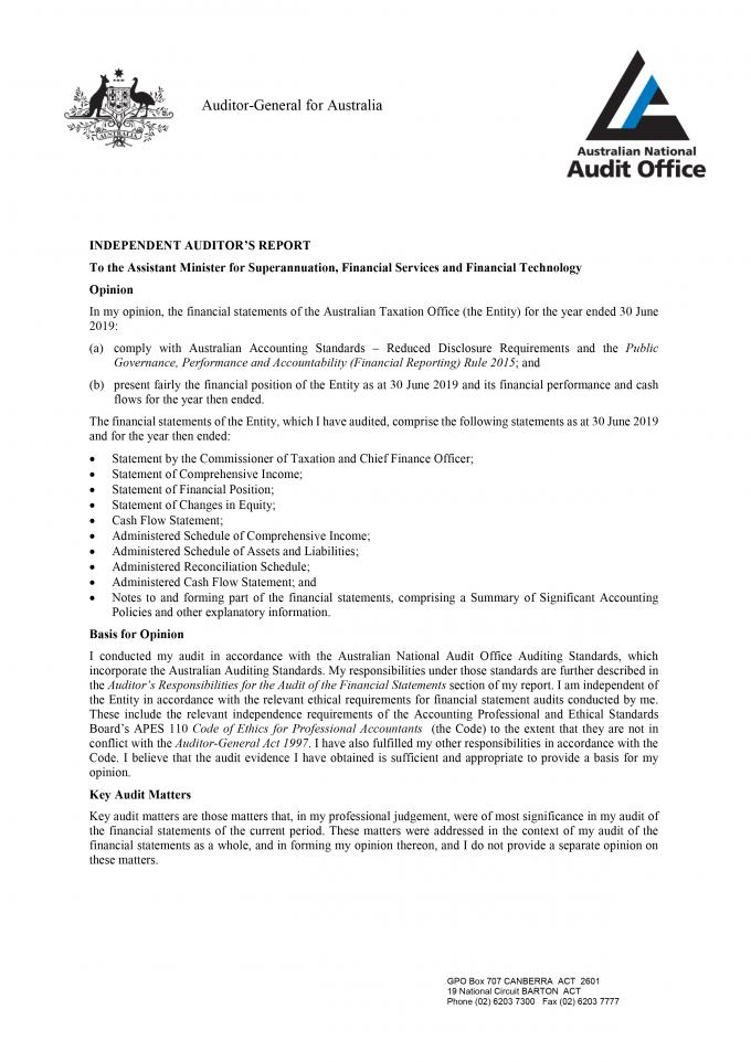 Scanned Independent Auditor's report - page 1. An alternative text version for this image is available from the link below this 4 page report.